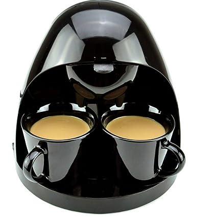 YOYO Cafetera,Cocineros Profesional Eléctrico Café Máquina Reutilizable Filtrar 5 Taza 350W con Tazas Incluido