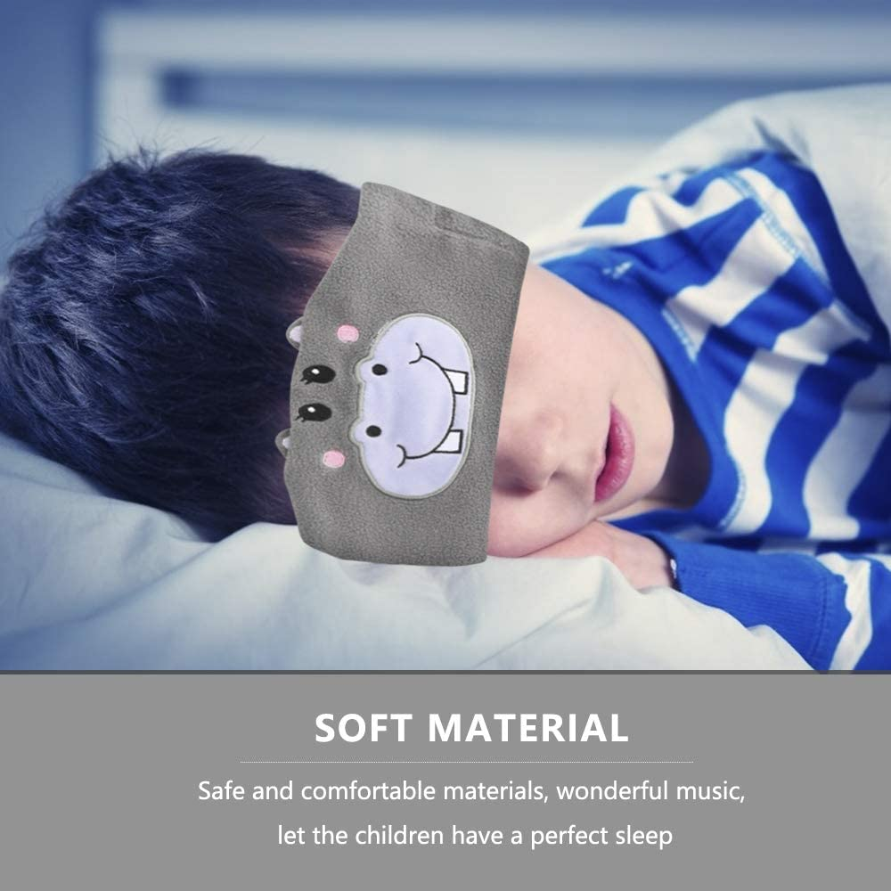 casque de sommeil musical pour enfants E-More Casque bandeau sans fil pour enfants lavable et r/églable pour le voyage et le sommeil casque de sommeil avec microphone haut-parleurs ultra fins