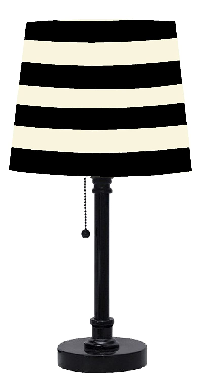 Amazon urban shop black and white striped table lamp toys games aloadofball Choice Image