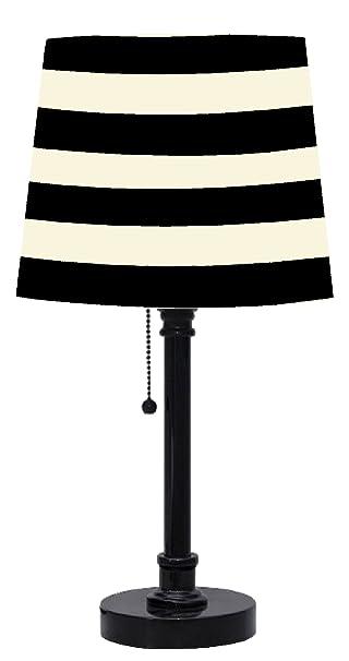 Amazon.com: Urban Shop Black and White Striped Table Lamp: Toys ...
