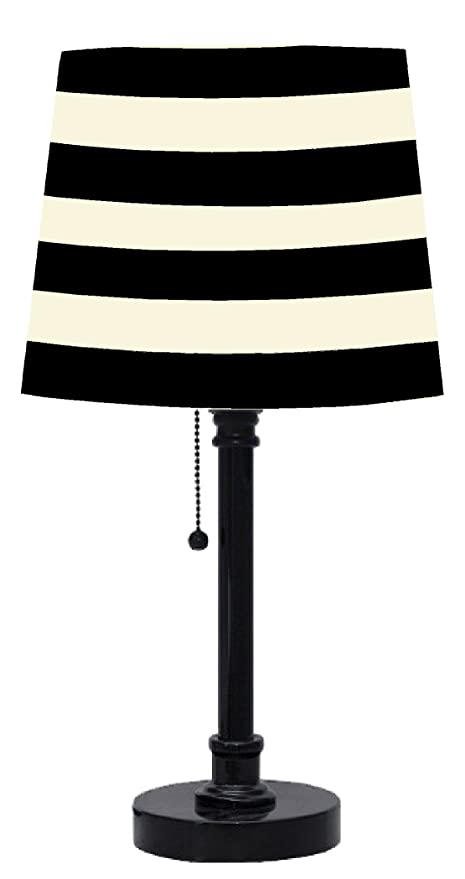 Amazoncom Urban Shop Black And White Striped Table Lamp Toys Games