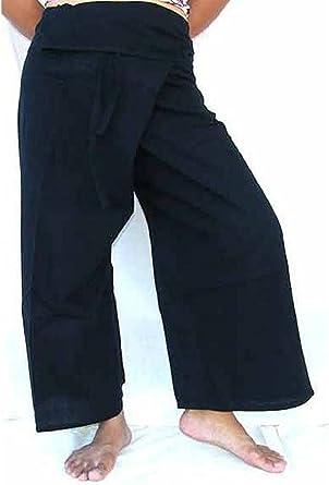 Pantalon Thai Negro Amazon Es Ropa Y Accesorios