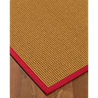NaturalAreaRugs Portugal Sisal Area Rug 5 x 8 Red Border
