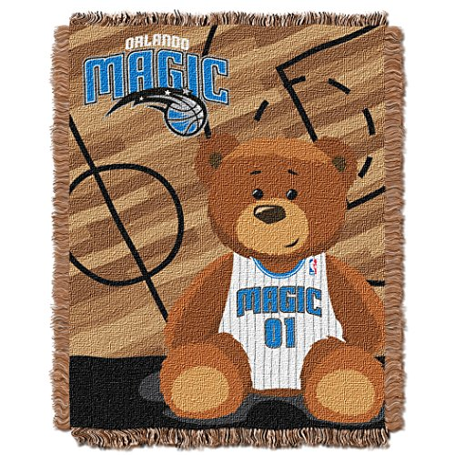 "The Northwest Company Officially Licensed NBA Orlando Magic Half Court Woven Jacquard Baby Throw Blanket, 36"" x 46"""