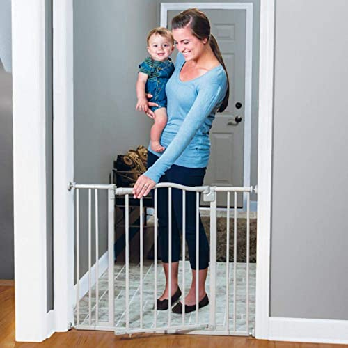 Toddleroo by North States 38.25 wide Arched Auto Close Baby Gate with Easy Step Sturdy safety gate with one hand operation. Pressure or Hardware Mount. Fits 28.75 to 38.25 wide 30 tall, Gray