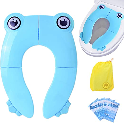 Travel Folding Portable Kid/'s Baby Toilet  Seat Covers Blue