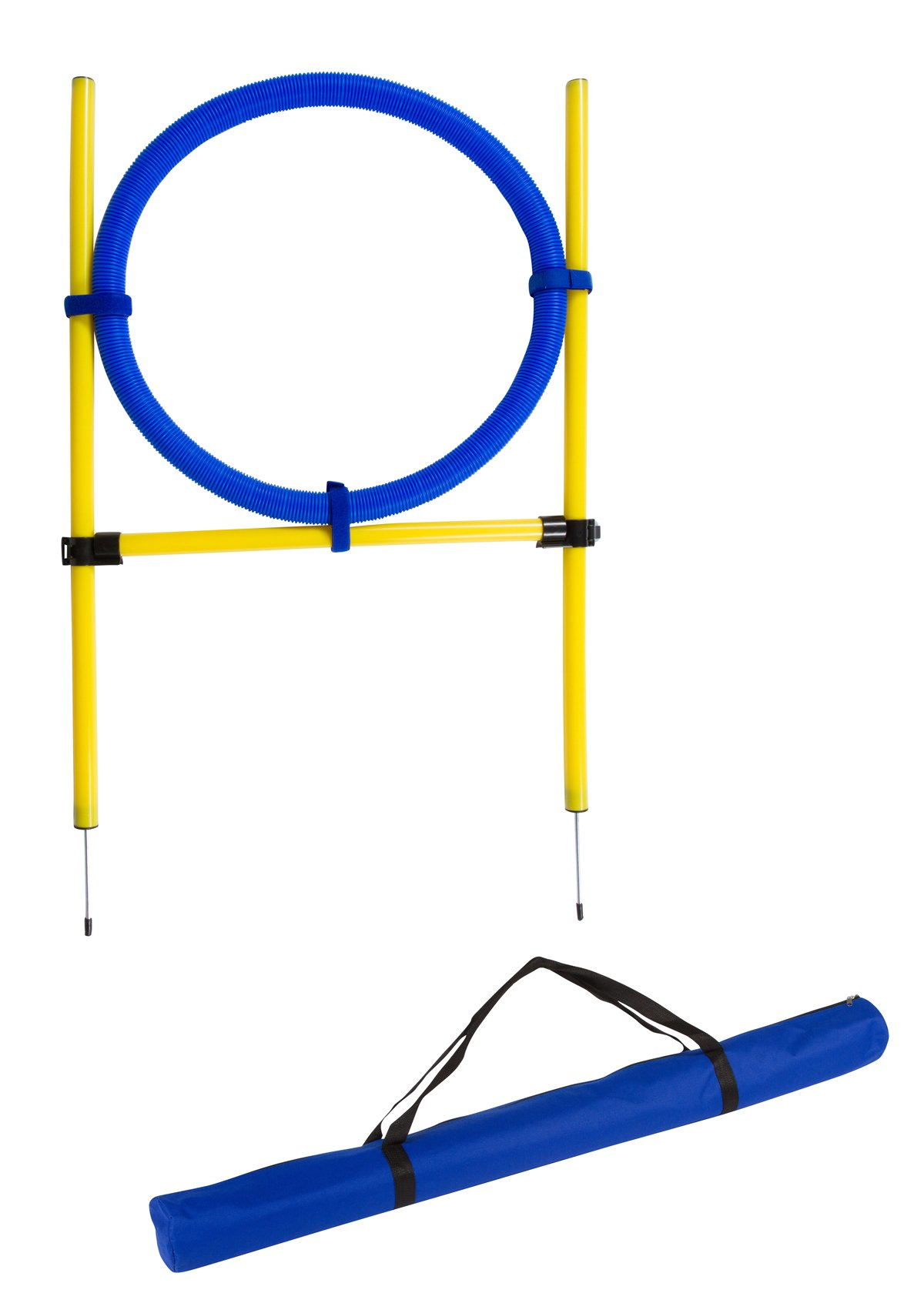 Trademark Innovations 26'' Diameter Dog Agility Jumping Training Hoop with Carry Bag by Trademark Innovations