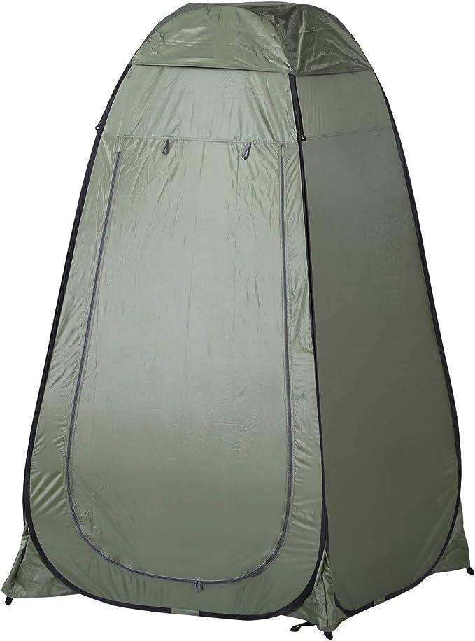 Outsunny Carpa Vestidor Plegable Tienda para Ducha Portátil con Funda para Playa y Montaña 120x120x190 cm