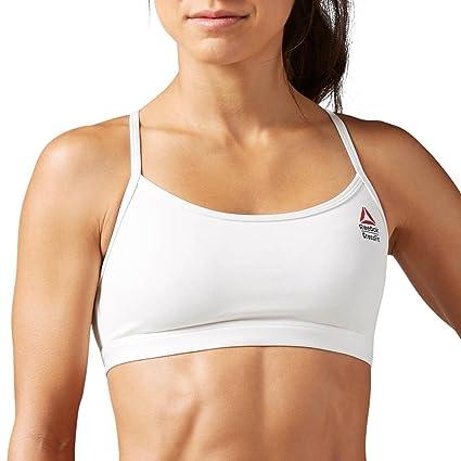 5e2a9d34a6c Amazon.com  Reebok Women s CROSSFIT Skinny Strap Bra  Sports   Outdoors