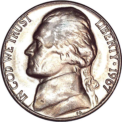 - 1967 Jefferson Nickel 5C About Uncirculated