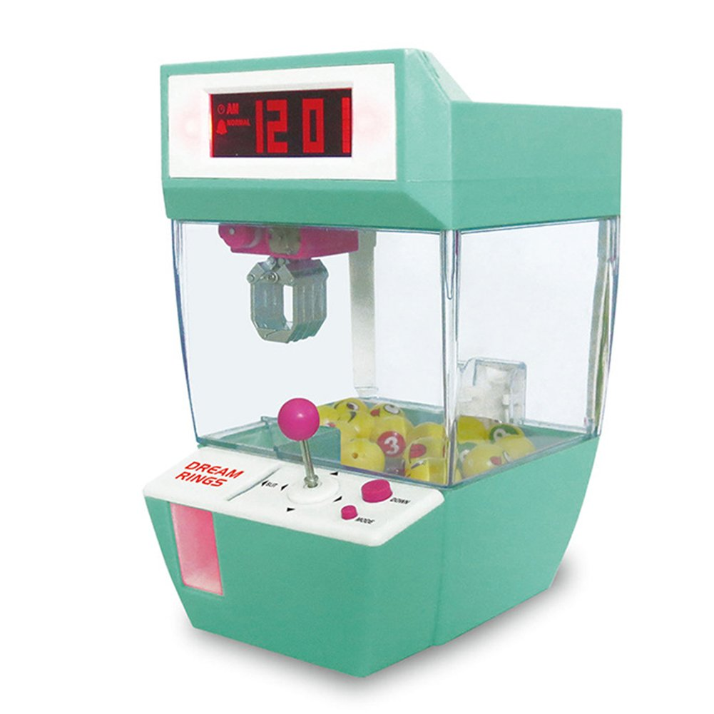 XMAKER Electronic Arcade Claw Game, Grabber Balls Candy Machine Grabber Toy Creative Alarm Clock (Green)