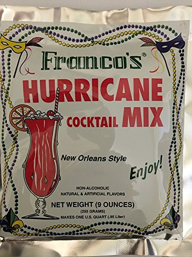 (Franco New Orleans style Hurricane Cocktail mix 9oz (pack of 6) )
