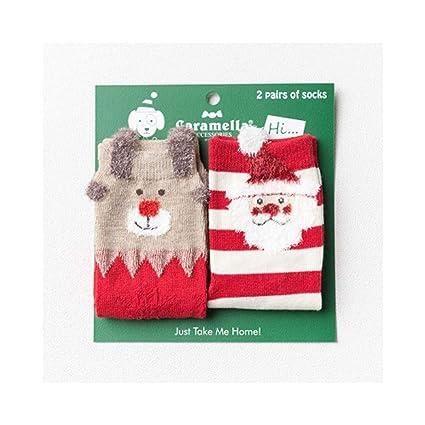 KVEYY 2 Pares De Cajas De Regalo Creativas De Navidad para Niños Calcetines Calcetines De Algodón