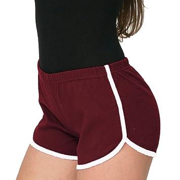 Femme Fitness Pantalon Court de Sport Quick Dry Gym Yoga Élasticité Running  Short Pants Courir Tight 49923819110