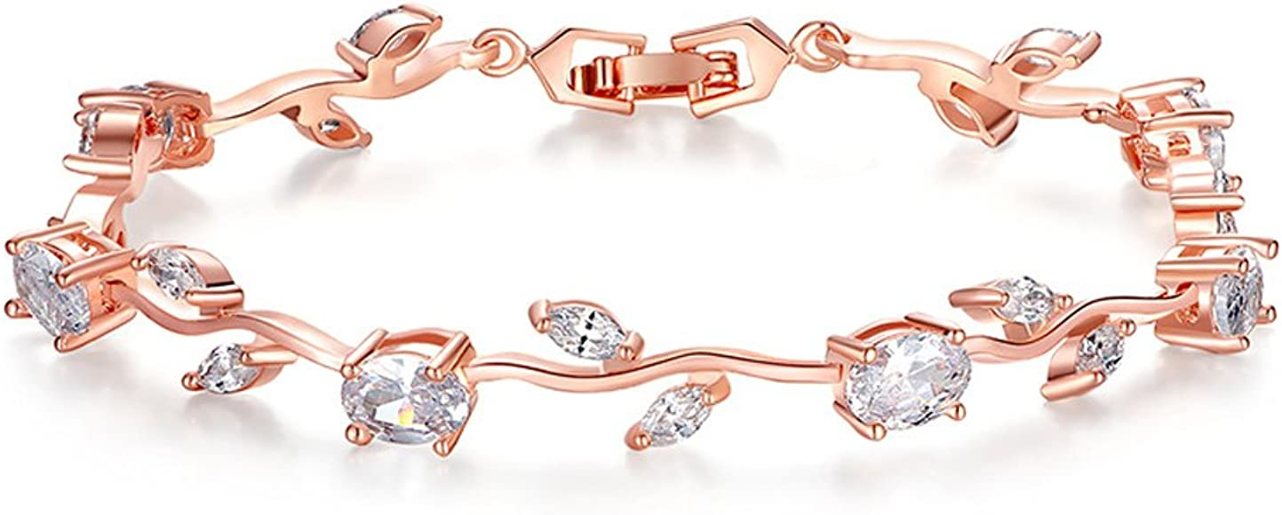 6f3569db73fa71 FEDONA 18k Yellow Gold-Plated Sterling Silver Diamond Accent Two-Tone Gemstone  Tennis Bracelet