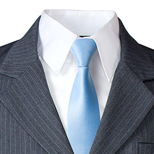 Spring Notion Big Boys' Pinstripe Suit Set Grey/Light Blue 12 by Spring Notion (Image #1)