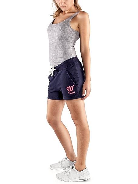 Woldo Athletic - Pantalón Corto Deportivo - para Mujer Azul Small ...