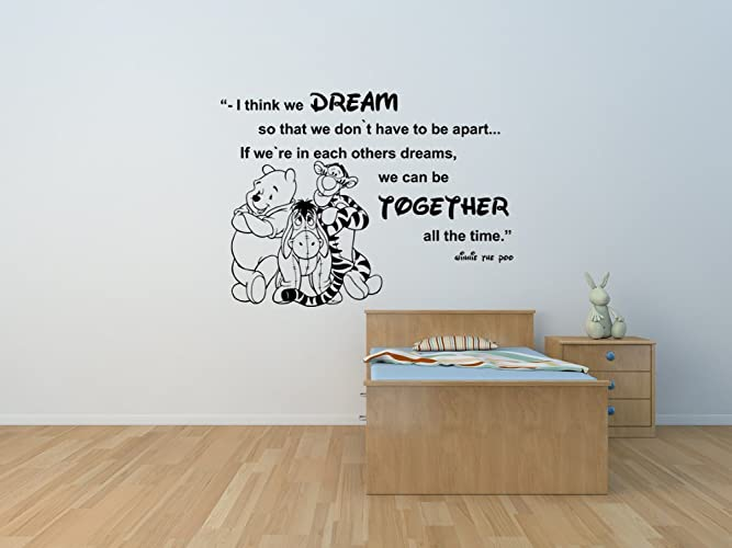winnie the pooh and friends eeyore and tiger quote personalised wall