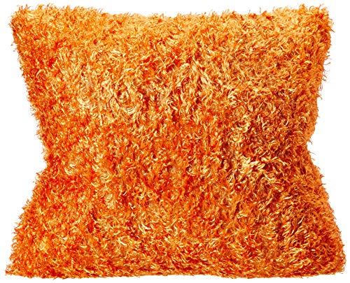 Brentwood Fifi Knife Edge 18-Inch Pillow, Orange