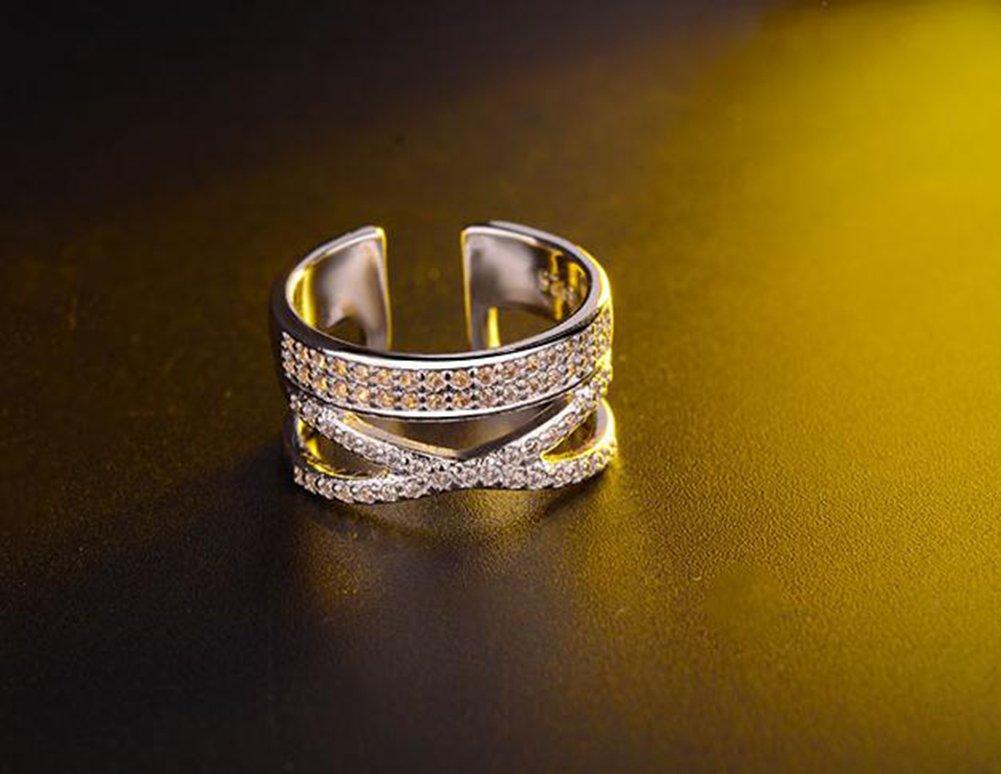 Cosanter Mode romantique bague en argent /él/égants nobles d/écorations damour hommes et femmes peuvent porter