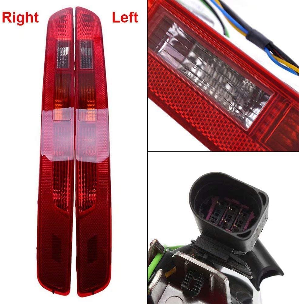 Pair Right Side Lower Bumper Red Reverse Tail Light Fog Lamp for 2006 2007 2008 2009 2010 2011 2012 2012 2013 2014 2015 2016 Audi Q5 2.0T 2006-2016 8R0945095 8R0945096 Fit for European version Only