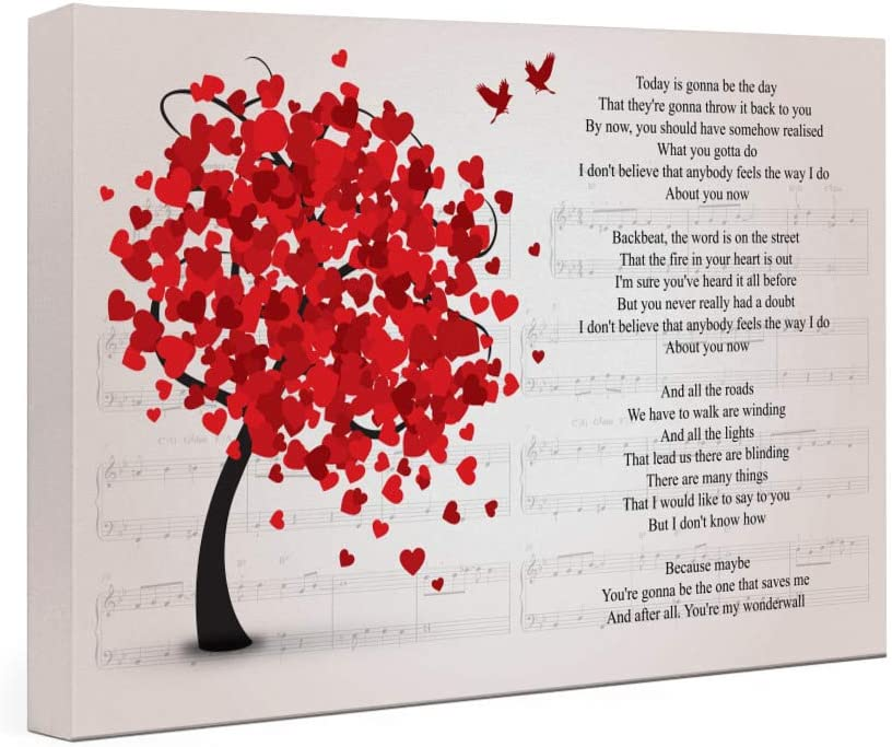 Kodora Wonderwall Song Lyrics Lovely Tree - Landscape Gallery Wrapped Framed Canvas Prints - Home Decor Wall Art (24