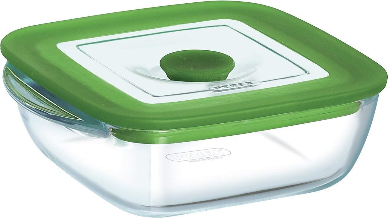 Pyrex 4 In 1 Plus Square Dish With Vent Lid, 14x12x4cm/0.3l 210PW00/5046