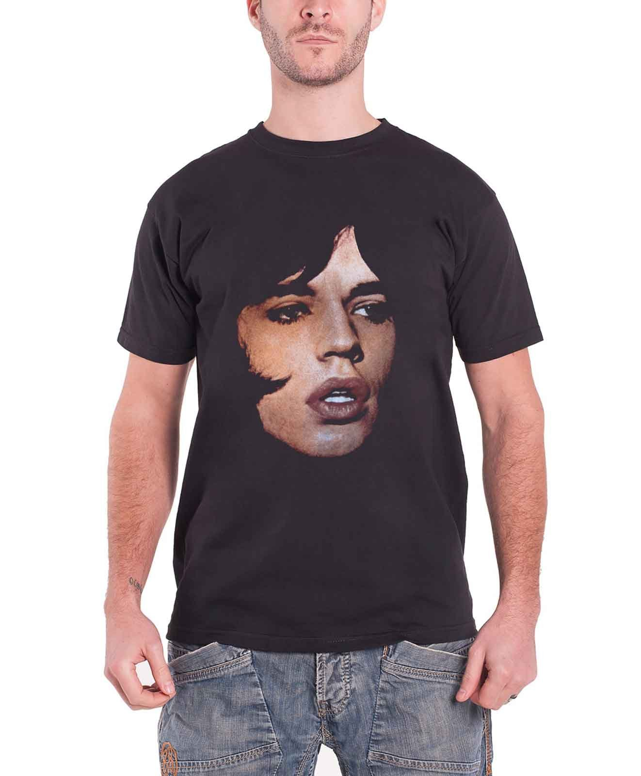 The T Shirt Mick Jagger Portrait Logo S 9289