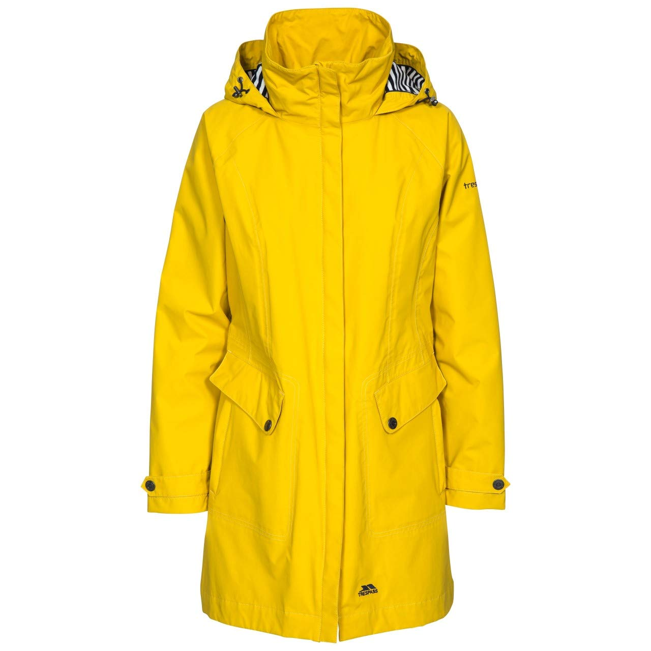 gold Trespass Womens Ladies Rainy Day Waterproof Jacket