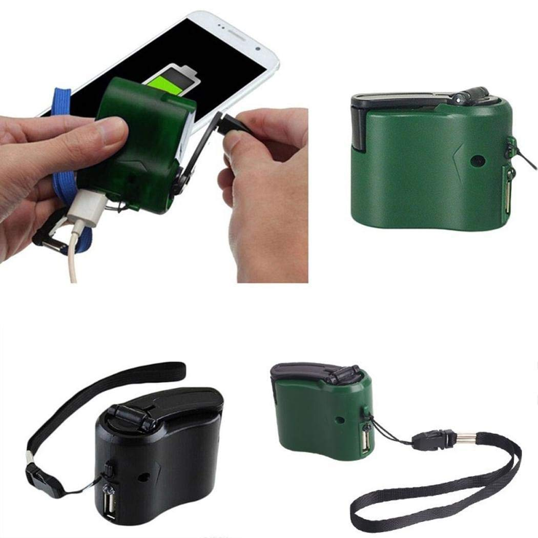 eubell Emergency Hand Crank Phone Charger for Camping Hiking Outdoor Sports Crank Travel Charger Camping Equipment Survival