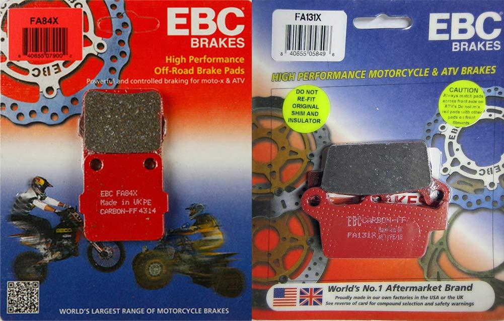 EBC Sport Carbon X Front & Rear Brake Pad Set - Honda CR125R, CR250R, CR500R - 1987-1994_FA125X|FA131X