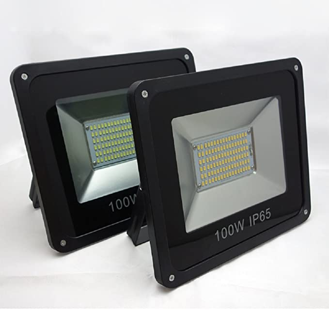 Prop It up Plastic Sfl 100 Watt Flood Light 2 Pcs Combo Pack (White)