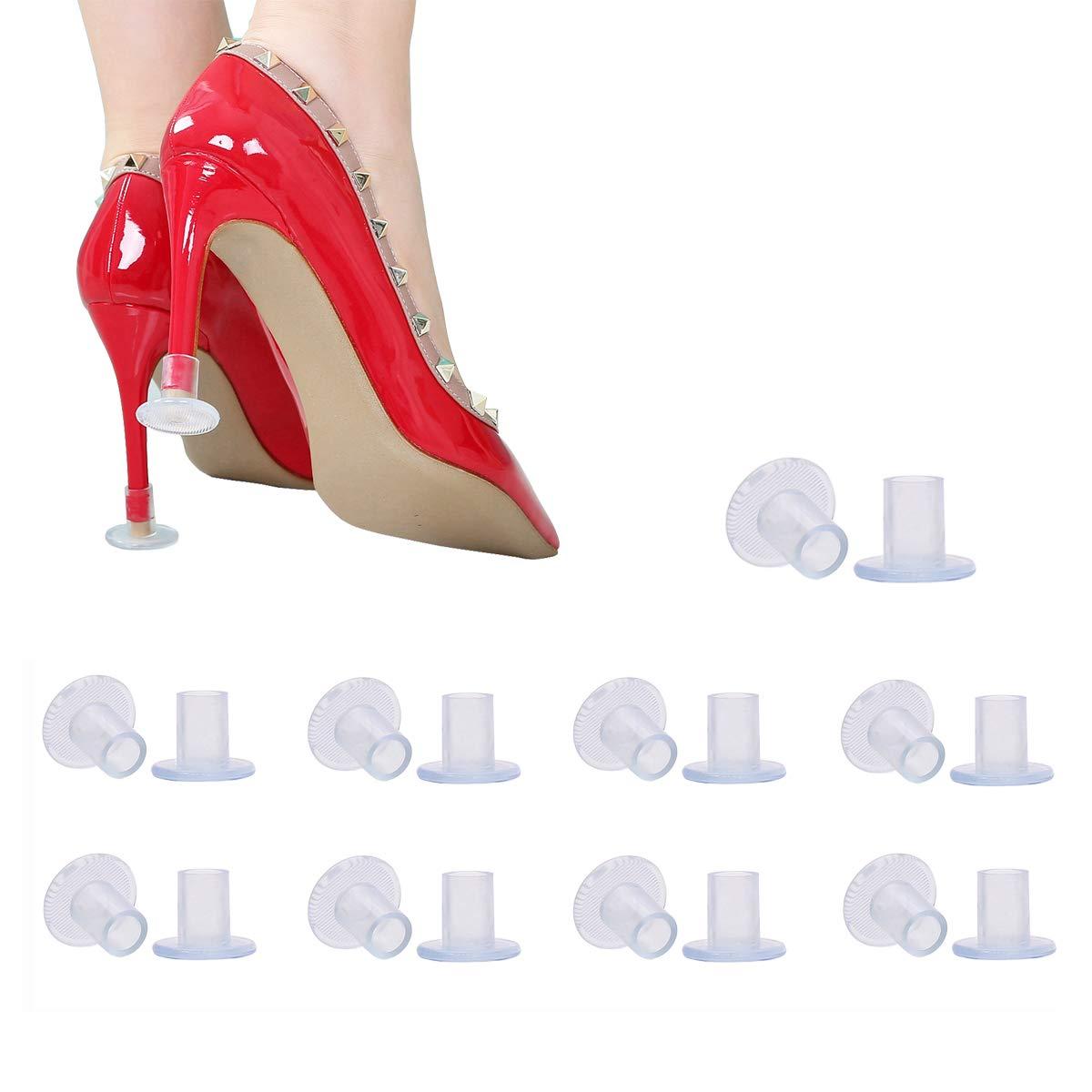 ba84c5228cbb2 Amazon.com: Heel Hunks Clear-Glass 7 Sizes 7 Pair Set Heel ...