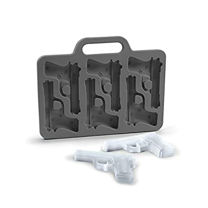 Goods & Gadgets 3D Molde Pistola – Cubitera Cubitos de Hielo Cubitera Forma para Pistolas de