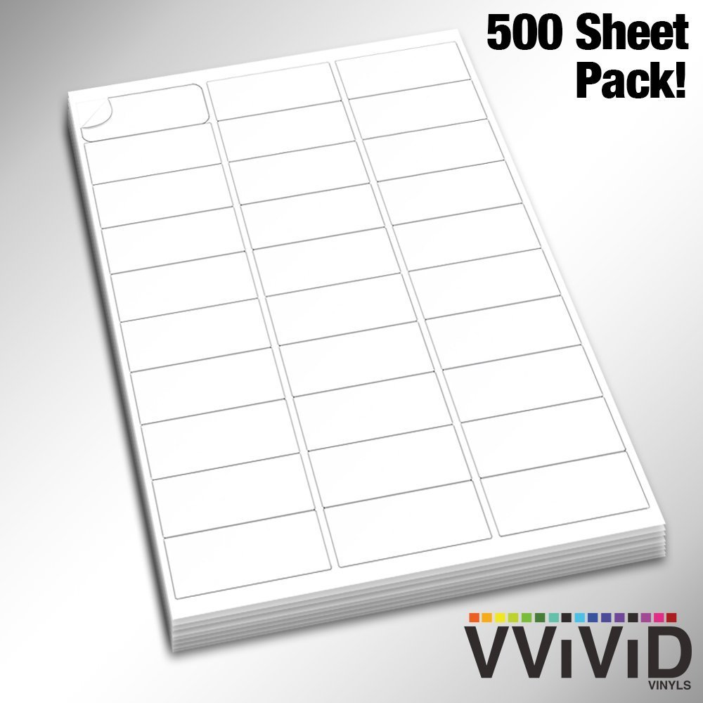 VViViD Premium Self-Adhesive Peel-and-Stick Printable Blank White 3x10 Label Pack (100 Sheet Pack) BHBUKPPAZINH2220