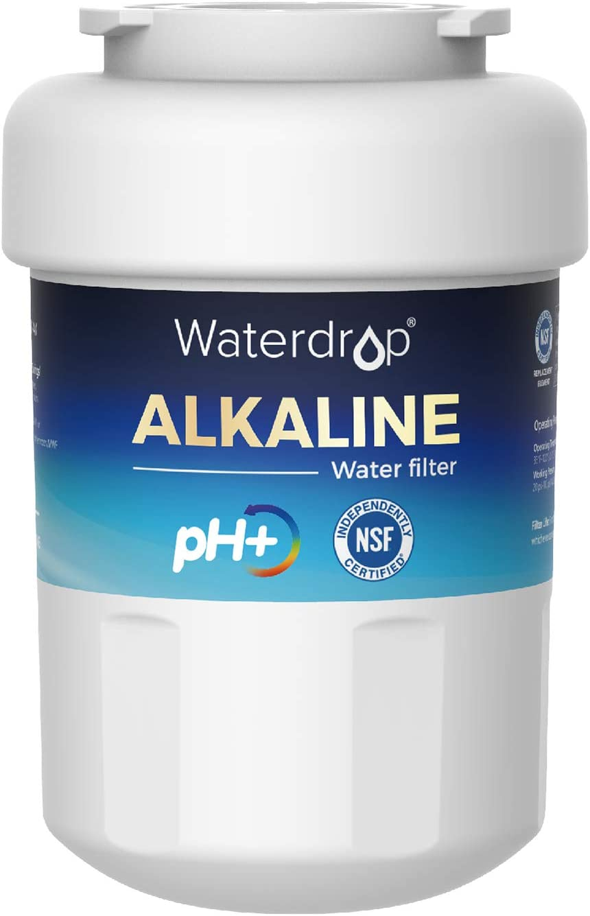 GE MWF Certified Alkaline Refrigerator Water Filter, Replacement for GE SmartWater MWFP, MWFA, GWF, HDX FMG-1, WFC1201, GSE25GSHECSS, PC75009, RWF1060, 197D6321P006