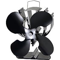 La chaleur à Ventilateur pour poêle en bois/Bûches Brûleur–écologique noir