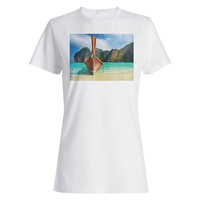 Tailandia Thai Beach Travel El mundo camiseta de las mujeres b373f: Amazon.es: Ropa y accesorios