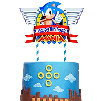 Sonic Happy Birthday Cake Topper Cake Decorations For Cake Topper Birthday Party Supplies Amazon Com Grocery Gourmet Food
