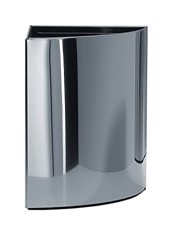Walther Round Stainless Steel Corner Waste Can  Wastebaske  Trash Can Open Top  Trash. Amazon com  Walther Round Stainless Steel Corner Waste Can