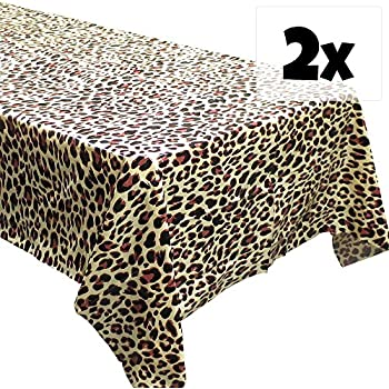 Delightful Blue Orchards Leopard Print Tablecovers (2), Safari Birthdays, Leopard  Party Supplies, Animal Themed Decorations