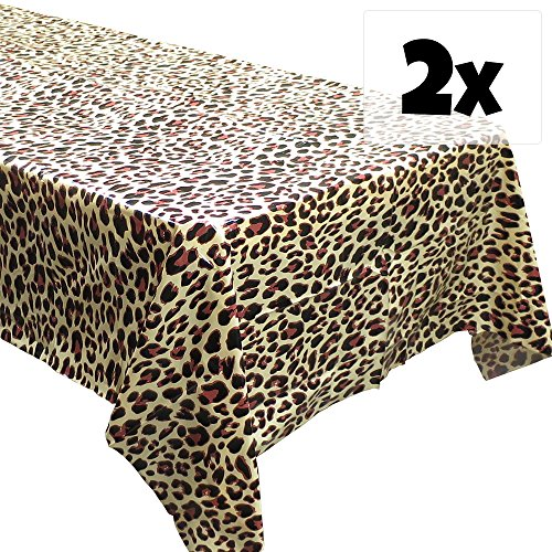 Leopard Print Tablecovers (2), Safari Birthdays, Leopard Party Supplies, Animal-Themed - Party Animal Print