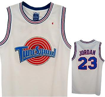 Nba Michael Jordan Space Jam Jersey 23 Tune Squad Amazon Ca Books