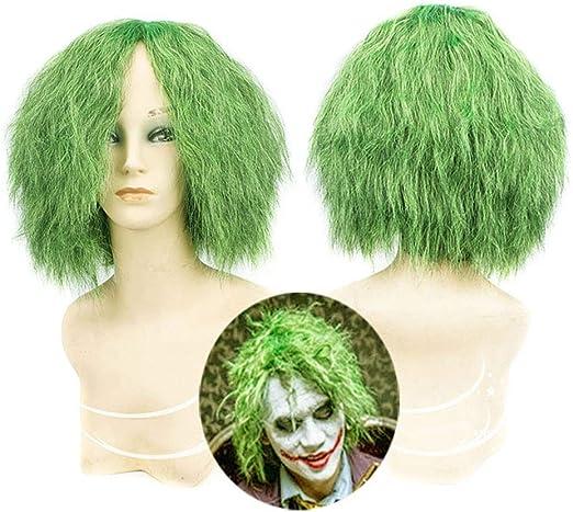 Peluca Postizos Mujer Joker rizadas pequeñas de Color Verde Batman ...