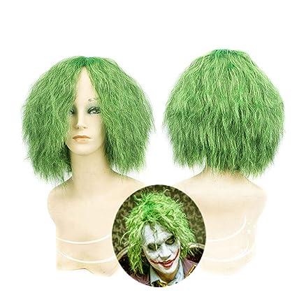 Peluca de Joker - Pelucas rizadas pequeñas de color verde Batman Dark Knight, Disfraz de