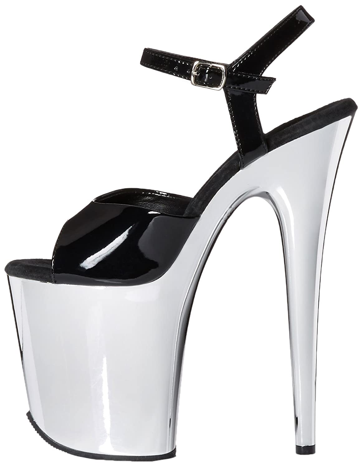 Pleaser Women's FLAM809/B/SCH 5 Platform Dress Sandal B014IZBXBW 5 FLAM809/B/SCH B(M) US|Black Patent/Silver Chrome 6a28c5