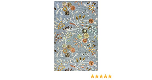"Amazon.com: Rizzy Home Eden Harbor Collection EH8636 Hand-Tufted Wool Blend Area Rug 2'6"" x 8' Gray-Multi: Kitchen & Dining"