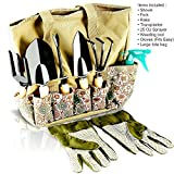 Scuddles Garden Tools Set - 8 Piece Heavy Duty Gardening tools With...