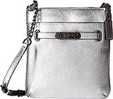 COACH Women's Pebbled Leather Coach Swagger Swingpack DK/Silver Cross Body