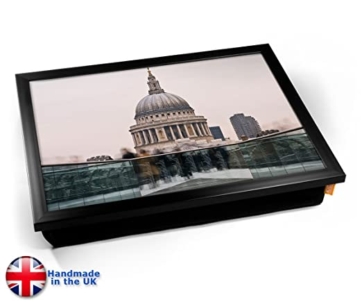 Londons St Paul Cathedral Cushion Lap Tray Cojín Bandeja de ...